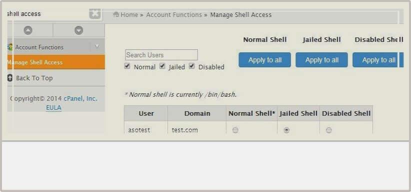 Acesso Com Jailed Shell