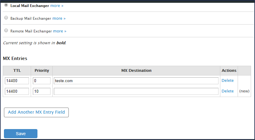 Como alterar o registro MX de um domínio com cPanel