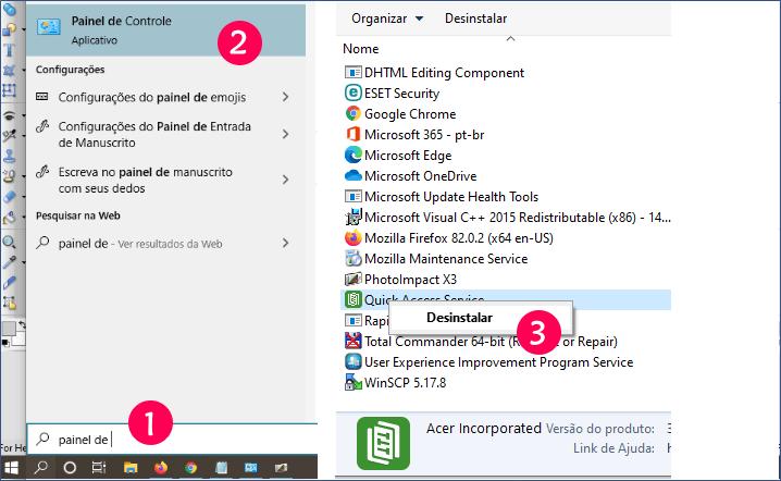 Desinstalar Programas no Windows 10
