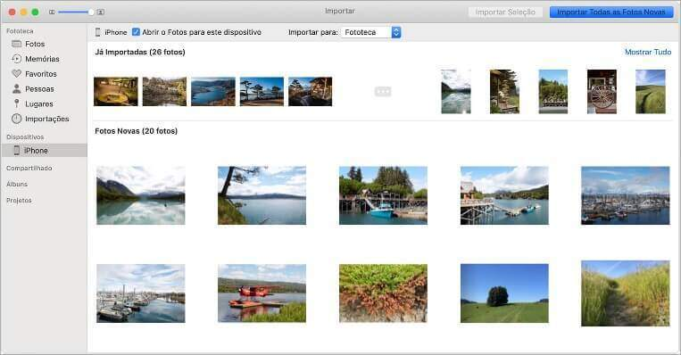 Como transferir fotos do Mac ou PC para iPhone e iPad