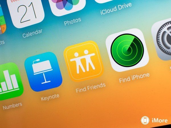 Find my Friends aparece no iCloud