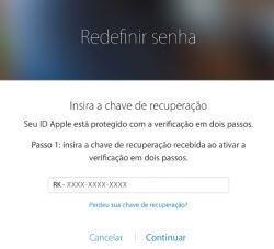 alterar suasenha da conta iCloud