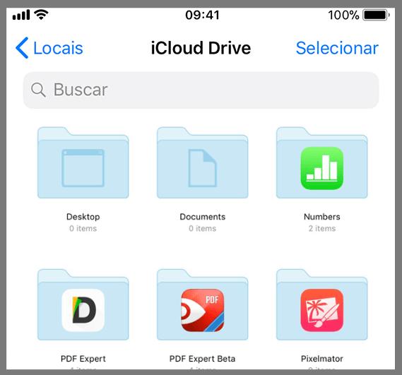 Como acessar o iCloud Drive