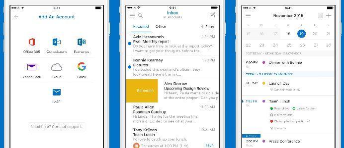 Microsoft lançou novas extensões do Outlook para IOS