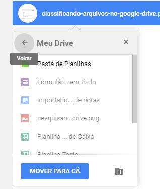 Google Drive Mover Arquivos