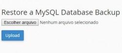 Restaurar Banco de Dados MySQL