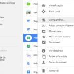 Como compartilhar arquivos do Google Drive