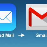Encaminhar os e-mails e contatos do iCloud para o Gmail