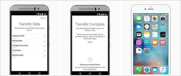 Migrar do Android para iPhone