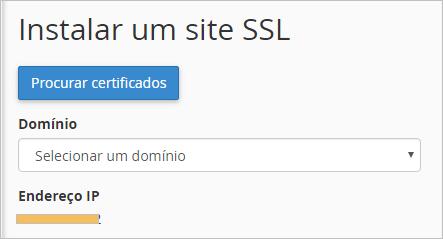 Instalar um Certificado SSL