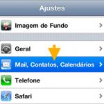 Como excluir cache de e-mail no iPhone ou iPad