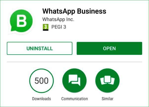 WhatsApp Business pode ser usado com telefone