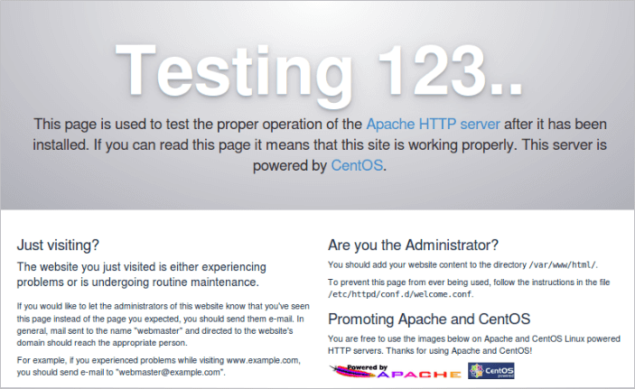 Instale o Servidor da Web Apache