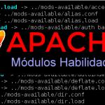Liste os módulos habilitados do Apache 2.4x
