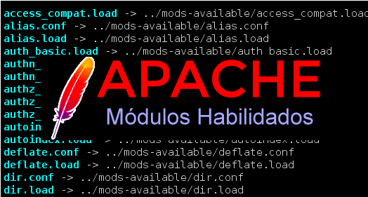 módulos habilitados do Apache 2.4x