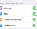 Ativar downloads automáticos no iPhone