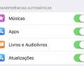 Ativar downloads automáticos no iPhone
