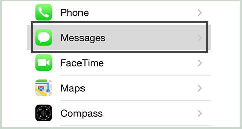 ativar as mensagens no iCloud