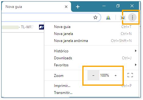 Alterar tamanho do texto de um site no Chrome