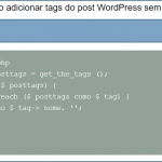 Adicionar tags do post Wordpress sem link