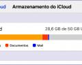 Ver o espaço de armazenamento de e-mail disponível no iCloud