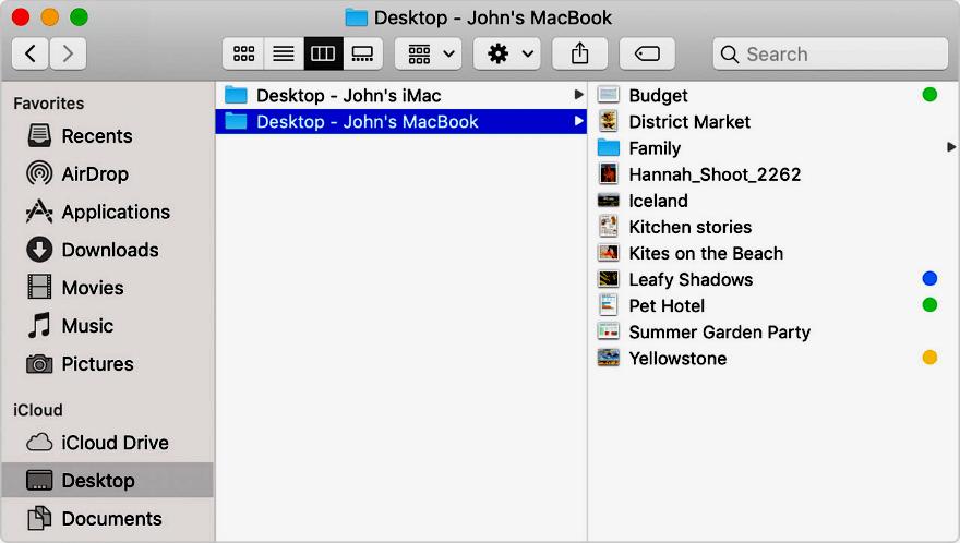 Acessar os arquivos das pastas Mesa e Documentos em outro dispositivo