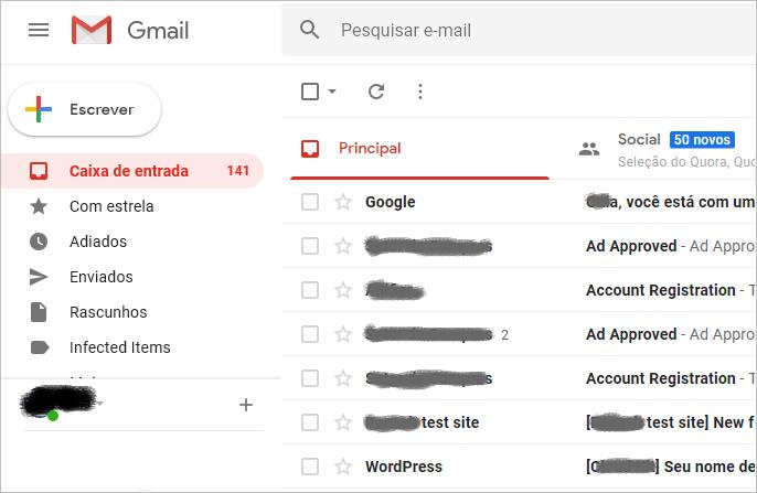 encaminhas uma lista de e-mail no gmail