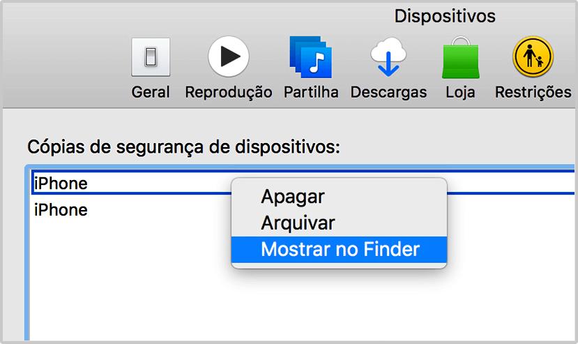 Remover cópia de segurança do iCloud de um dispositivo iOS