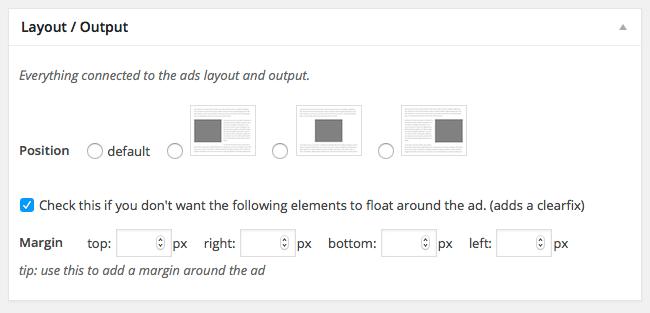tela do plugin Advanced Ads