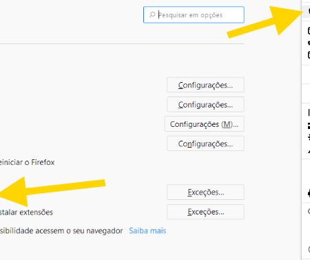 bloquear redirecionamentos de página da web
