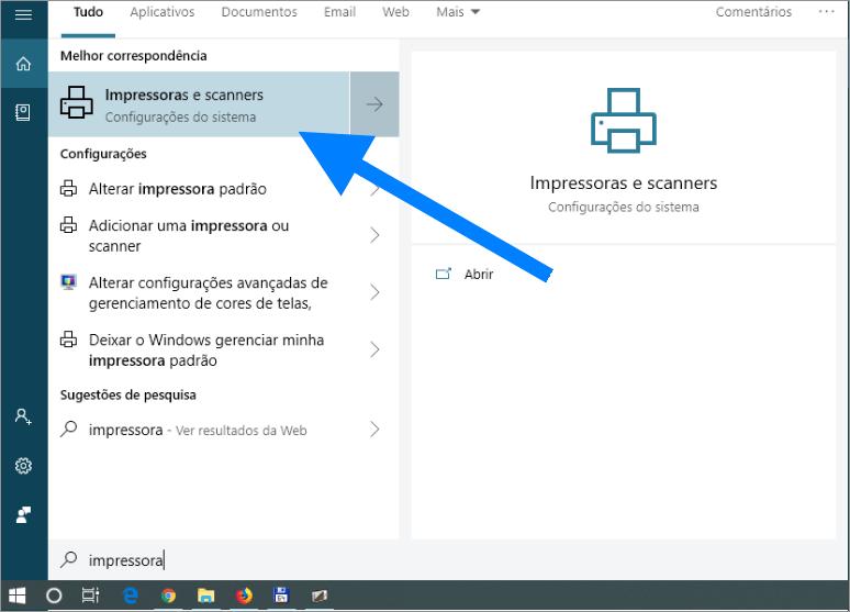 conectar uma impressora sem fio no Windows 10