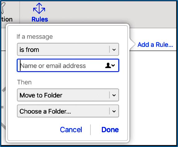 Filtrar e-mail do iCloud automaticamente