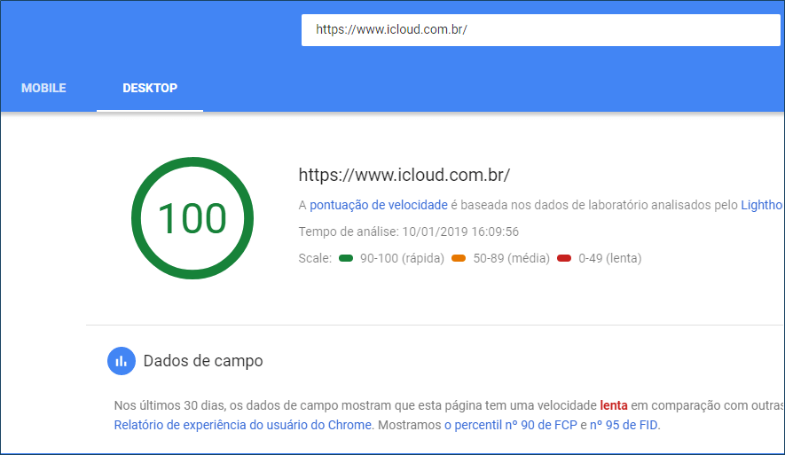 Novo Google PageSpeed ​​Insights está mais amigável