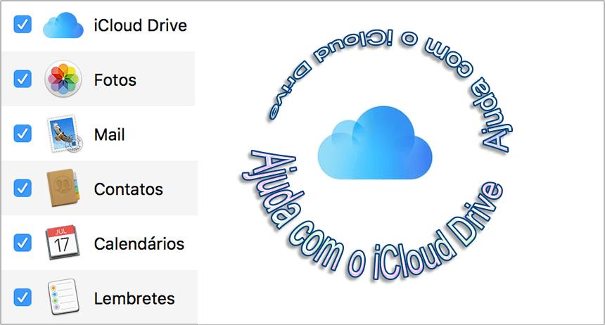 Como obter ajuda do iCloud Drive