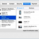 Obter informações sobre os dispositivos iCloud conectados
