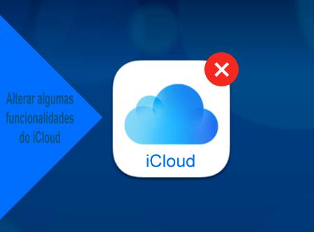 Alterar as definições das funcionalidades do iCloud
