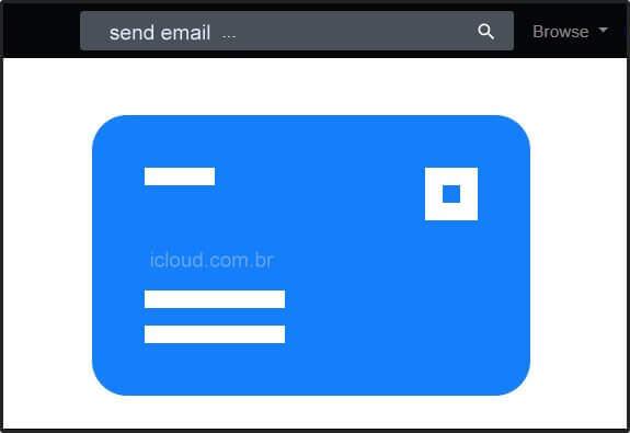 Enviar e-mail do iCloud mail com o navegador da Web