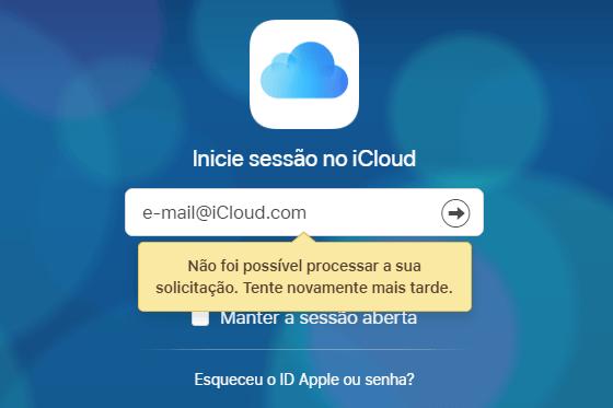 A senha do iCloud não funciona no iPhone