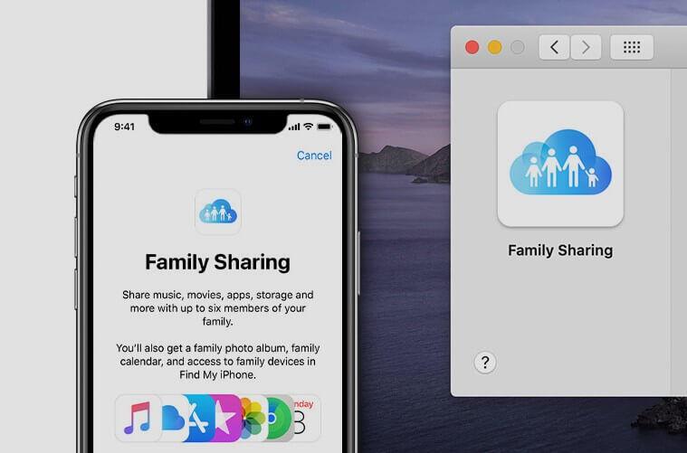 dividir o espaço de armazenamento iCloud