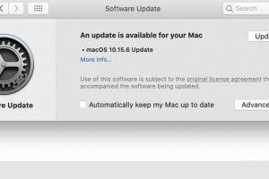 Apple lança atualização do MacOS 10.15.6