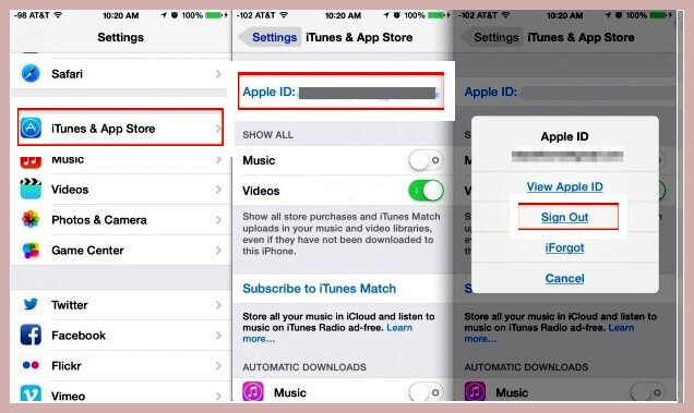 Trocar o ID da Apple no iPhone