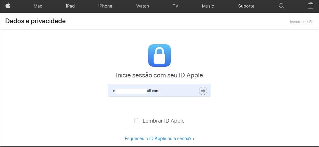 Dados de Privacidade da Apple