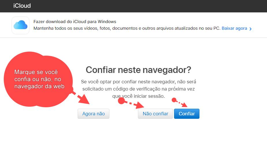 Confiar no navegador da web