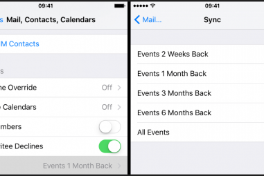 Apagar ou ocultar eventos no iCloud