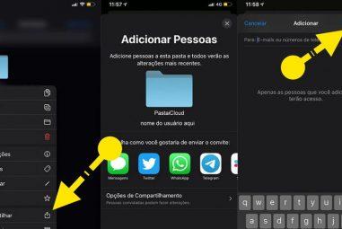 Como Compartilhar Pastas do iCloud no iPhone iPad e Mac