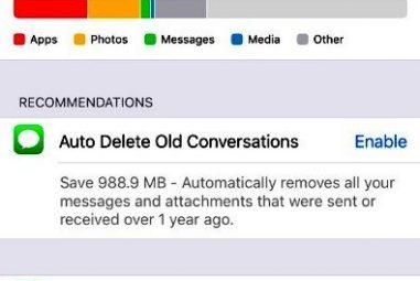 Libere o armazenamento do iPhone descarregando Apps no iOS 11