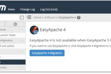 Migrar de EasyApache 3 para EasyApache 4 com WHM 68 no VPS
