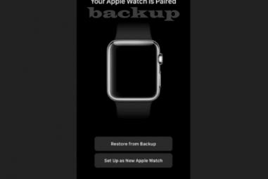 Fazer backup do Apple Watch