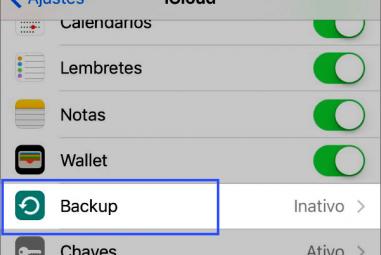 Como gerenciar o backup do iCloud