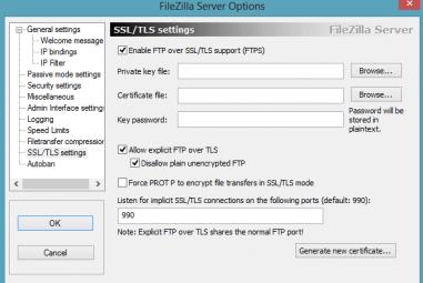 Como Instalar Certificado SSL no Servidor FileZilla